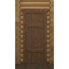 DW Дверь дерев состарен 190х70 Русь