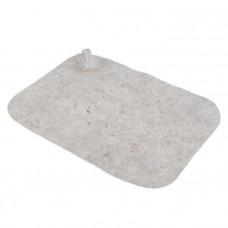 Коврик банный 50*40см серый