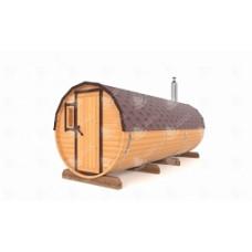 Баня-Бочка Стандарт (кедр) цельная 5м цвет орех
