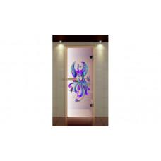 ALDO Дверь стекл. 690х1890 Сатин с контурной фотопечатью