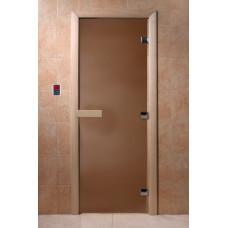 DW Дверь стекл Престиж Бронза 6мм  кор ольха