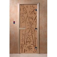 DW Дверь стекл. Бронза матовая 8мм с рисунком