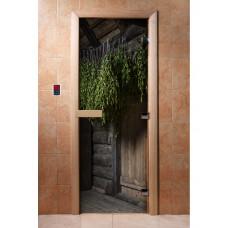 DW Дверь стекл 1800х700  8мм с Фотопечатью кор ольха