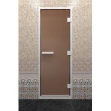 DW Дверь стекл для хамама Бронза матовая 8мм