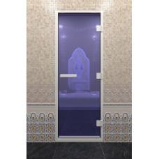 DW Дверь стекл для хамама Синий Жемчуг 8мм