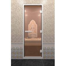 DW Дверь стекл для хамама 1900х700  8мм с рисунком