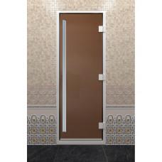 DW Дверь стекл для хамама 2000х800  8мм с рисунком