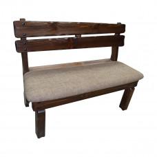 Скамья Медведь (кожа/ткань) 1200х520хh900