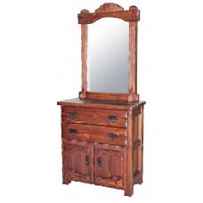 Комод Барин 1 с зеркалом (с эл.ковки) 900х450хН2160