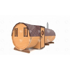 Баня-Бочка Стандарт (кедр) цельная 6м вход сбоку