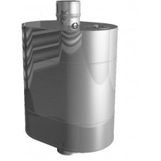Бак на трубе для печи, ф115, нержавейка 0,8мм (штуцер 3/4')
