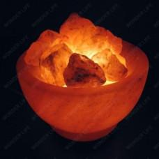 WL Лампа из гимал. соли Огненная ваза