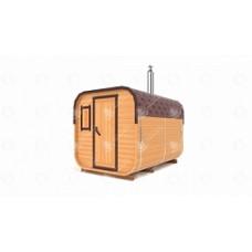 Комплект для бани-бочки Стандарт квадратн (кедр) 3,0х2,1х2,1 м, 2 отделения