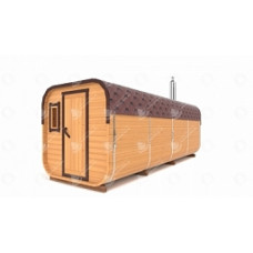 Комплект для бани-бочки Стандарт квадратн (кедр) 5,5х2,1х2,1 м, 3 отделения