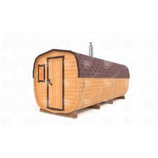Комплект для бани-бочки ОКТА (кедр) 5,5х2,2х2,2 м, 3 отделения