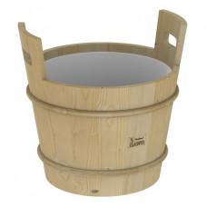 SAWO Запарник деревянный с пластиков.вставкой, c крышкой, сосна