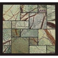 Мозаика мрамор «Forest Green» состаренная