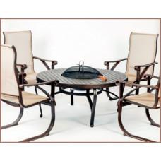Набор мебели из литого алюминия 'ЭТНА' стол с барбекю на четыре персоны
