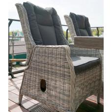 Регулируемое кресло из ротанга ВЕРОНА в комплекте с подушками