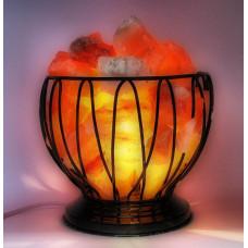 Лампа 5-5,5 кг огненная ваза с камнями - с димером
