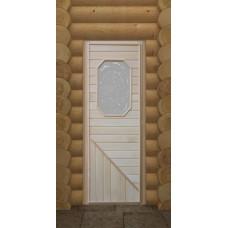 DW Дверь дерев с 4-х/8-миугольн стекл встав.185х75