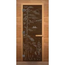 LK Дверь стекл. бронза с рисунком 1900х700 к.хв.