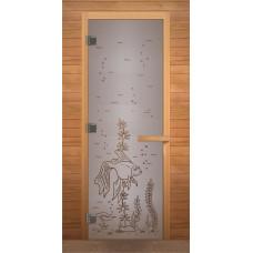 LK Дверь стекл.сатин с рисунком 1900х700 к.лист.