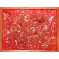 Панно из Гималайск.соли в рамке с подсветкой