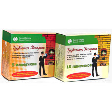Средство очистки дымоходов от сажи 'Трубочист Экспресс' (10 пакетиков)