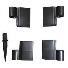 Угловой поворотный элемент для доски клумб, цветочниц и грядок