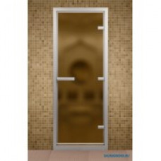 ALDO Дверь стекл.  для хамама Бронза матовая