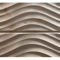 Имитация бруса с 3D рисунком 'Волна' 20х140х3000