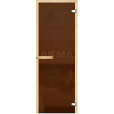 АКМА  Дверь стекл. Бронза матовая хром магнит