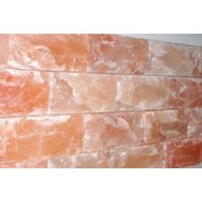 Стена из Гималайской соли, скрытый крепеж кирпич 200*100*50, натур.сторона,