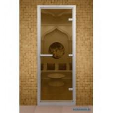ALDO Дверь стекл.  для хамама Бронза