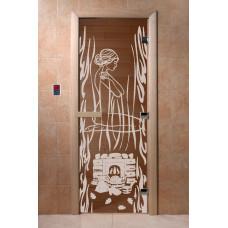 DW Дверь стекл 2000х700  8мм с Рисунком