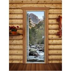 DW Дверь стекл 2100х800  8мм  Рисунком