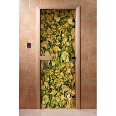 DW Дверь стекл. 8мм с фотопечатью А001 кор ольха
