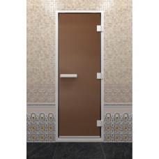 DW Дверь стекл для хамама Бронза  8мм