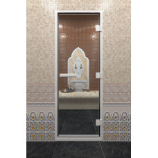 DW Дверь стекл для хамама 2100х900  8мм с рисунком