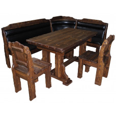 Кухонный комплект (уголок, стол Купец 1,4х0,8м, 2 стула Добряк)