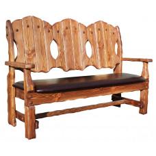 Скамья-кресло Добряк (кожа/ткань 3-х местное) 1700х620хh1170