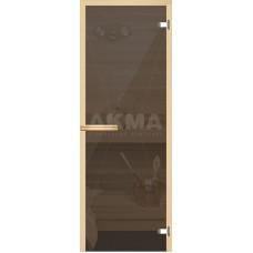 АКМА Дверь стекл.Aspen M Серая, хром, магнит