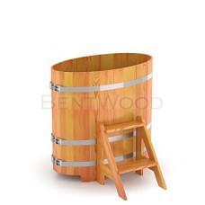 BW Купель лиственница Овальная (натур) 80х142х120 см