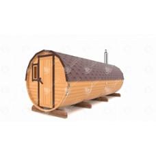 Комплект для бани-бочки вход сбоку (кедр) 6м, 3 отделения