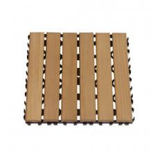 SAWO Коврик деревянный на пол 280х280х15мм, середина 595-BC